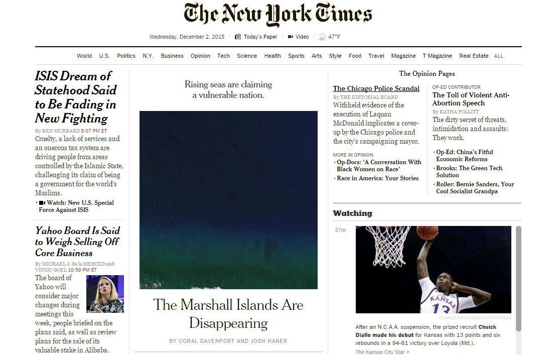 Пример дизайна - New York Times